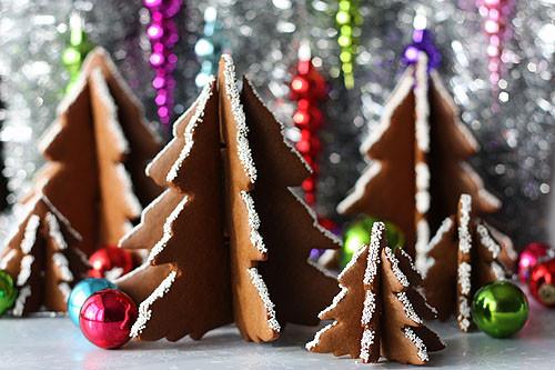 3D Christmas Tree Cookies  How Do You Make A Gingerbread House Christmas Tree Cookies