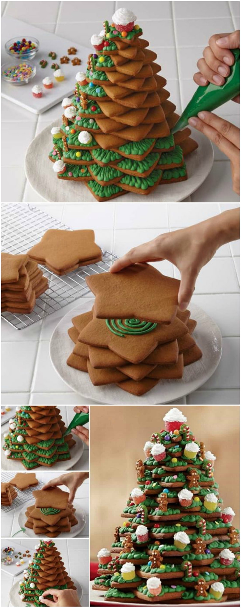 3D Christmas Tree Cookies  3D Cookie Christmas Tree Recipe With Video Tutorial