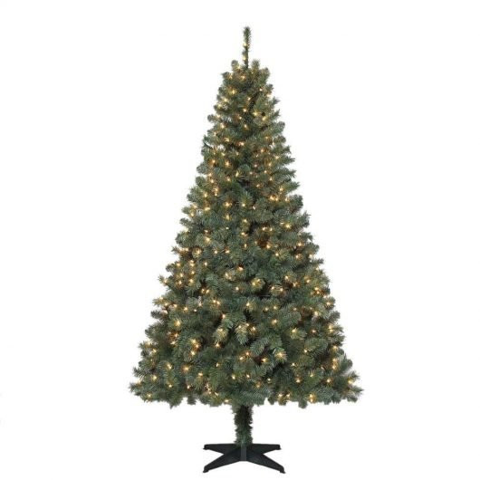 6.5 Ft. Verde Spruce Artificial Christmas Tree With 400 Clear Lights, Greens  6 5 Ft Verde Spruce Pre Lit Christmas Tree Sale Family