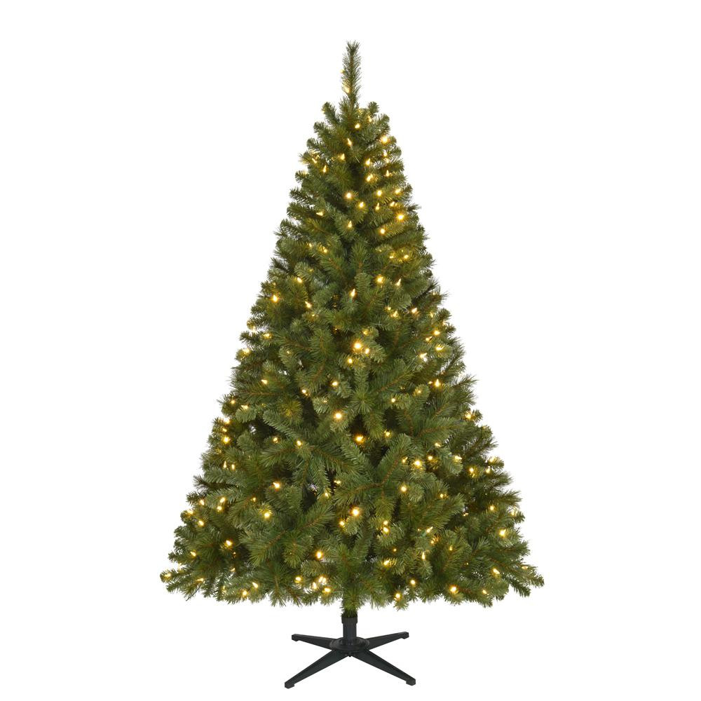 6.5 Ft. Verde Spruce Artificial Christmas Tree With 400 Clear Lights, Greens  200 Great 6 5 Ft Verde Spruce Artificial Christmas Tree