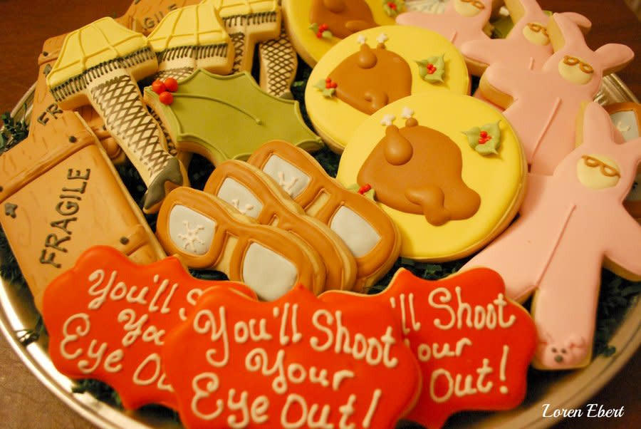 A Christmas Story Cookies  A Christmas Story Cookie Platter cake by Loren Ebert