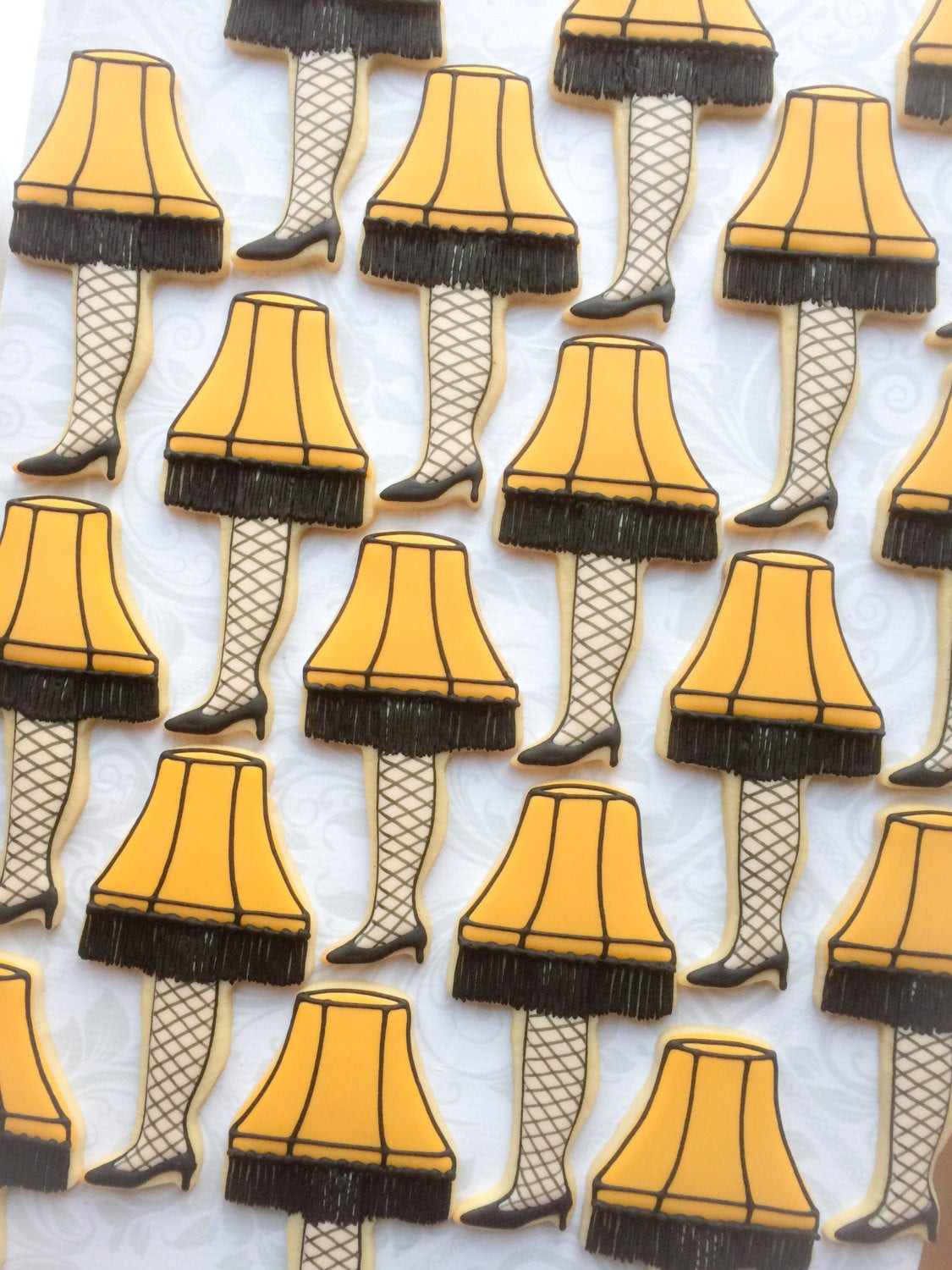 A Christmas Story Cookies  A Christmas Story Leg Lamp Cookies e Dozen Decorated