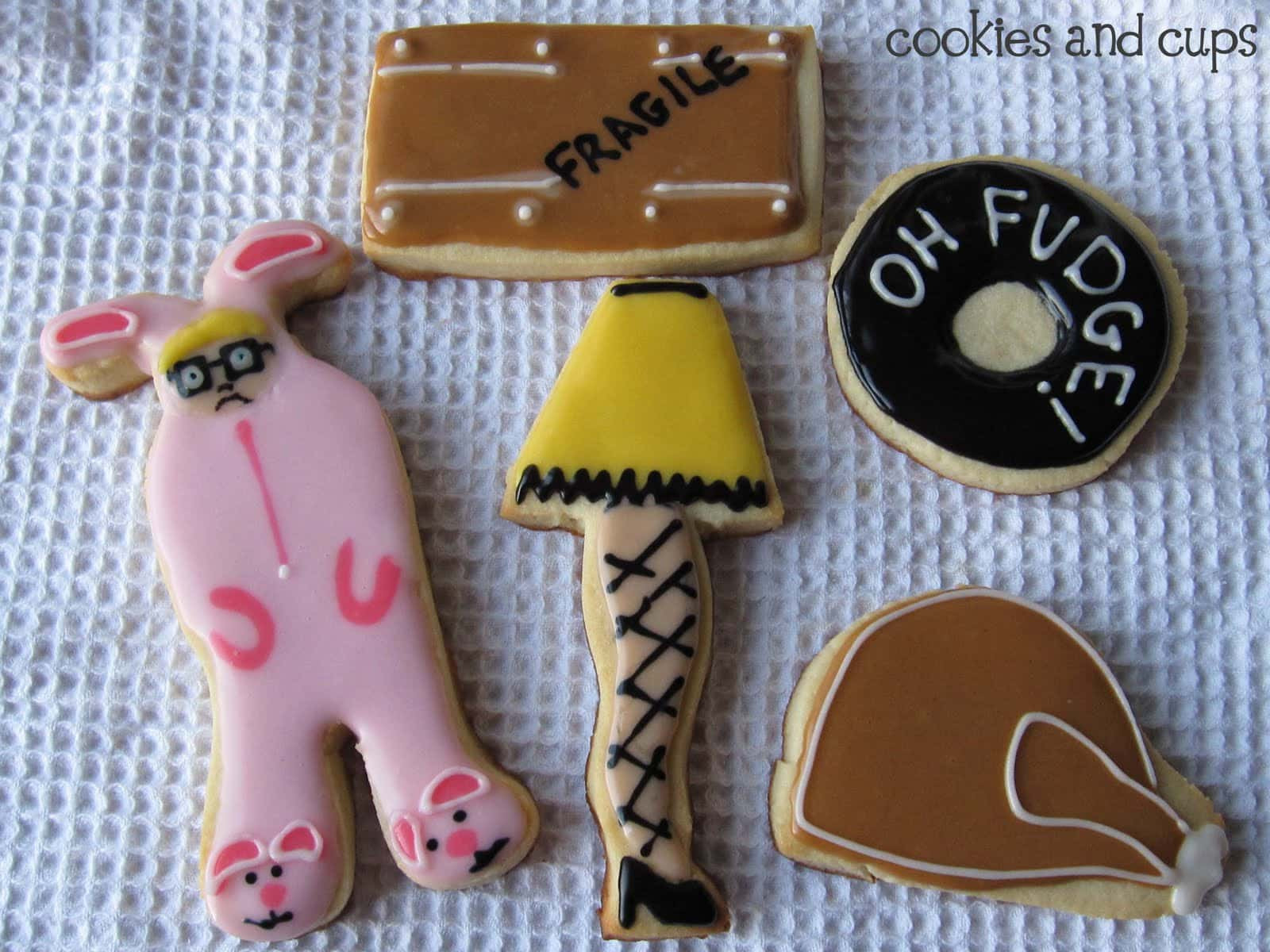 """A Christmas Story Cookies  """"You ll shoot your eye out"""" Cookies and Cups"""