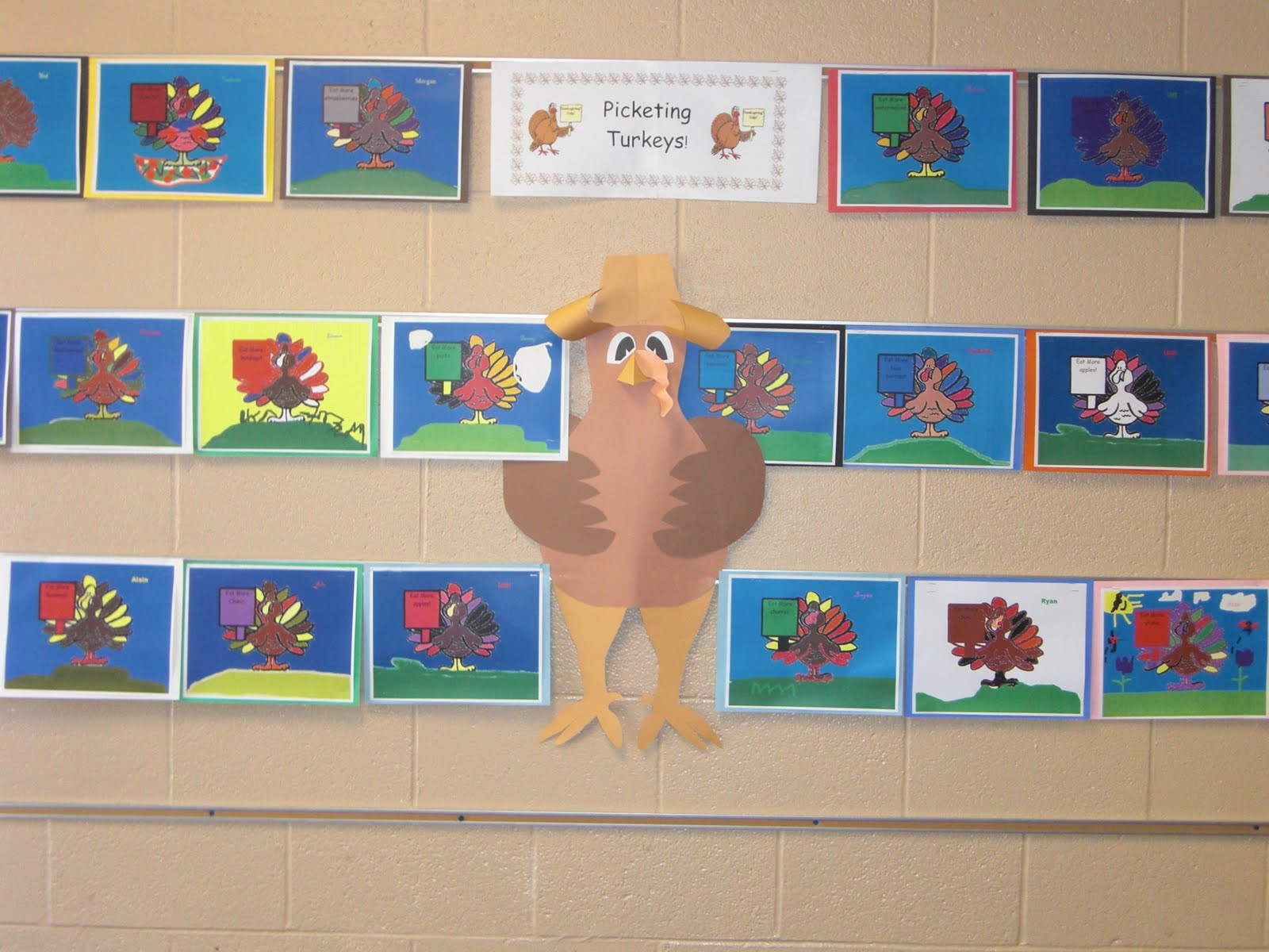 A Turkey For Thanksgiving By Eve Bunting Activities  K 5 Technology Lessons Picketing Turkeys
