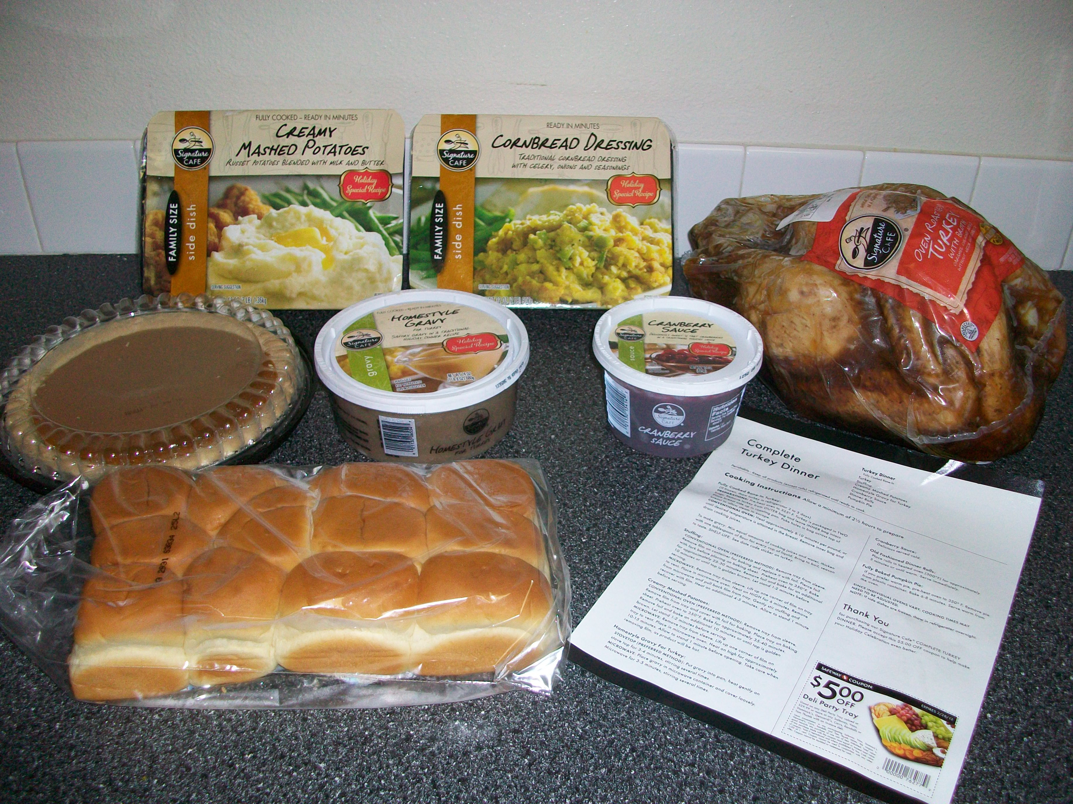 Albertsons Thanksgiving Dinners  safeway christmas dinner delivery