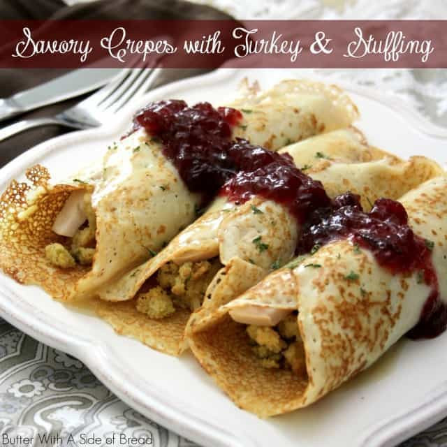 Albertsons Thanksgiving Dinners  SAVORY CREPES with THANKSGIVING TURKEY & STUFFING Butter