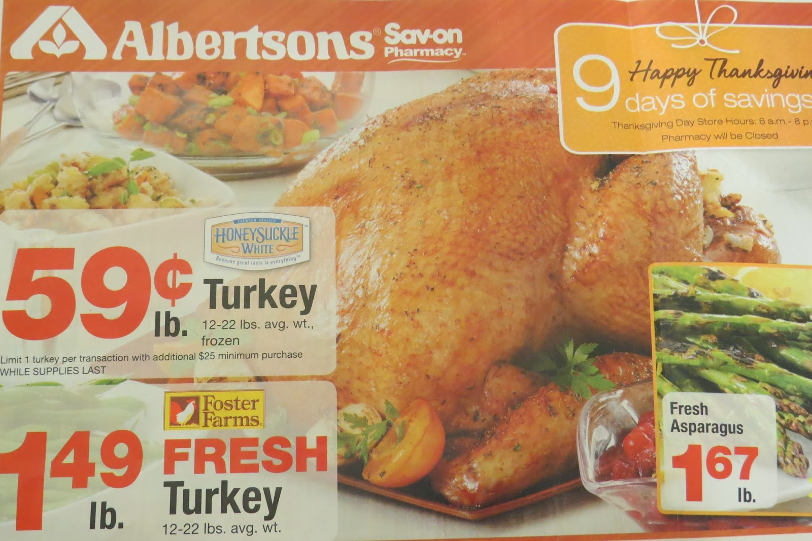 Albertsons Thanksgiving Dinners  A Great Amazon Gift Card Deal at Albertsons