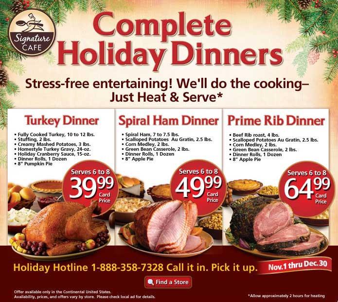Albertsons Thanksgiving Dinners  safeway christmas ham dinner