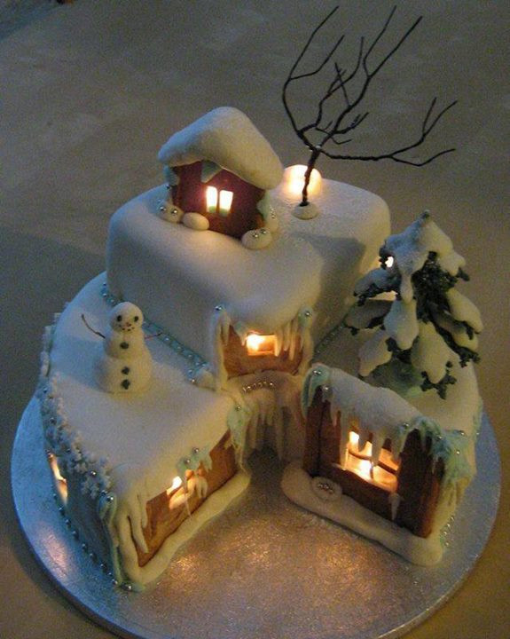 Amazing Christmas Cakes  15 Amazing Christmas Cakes A Holiday Scene