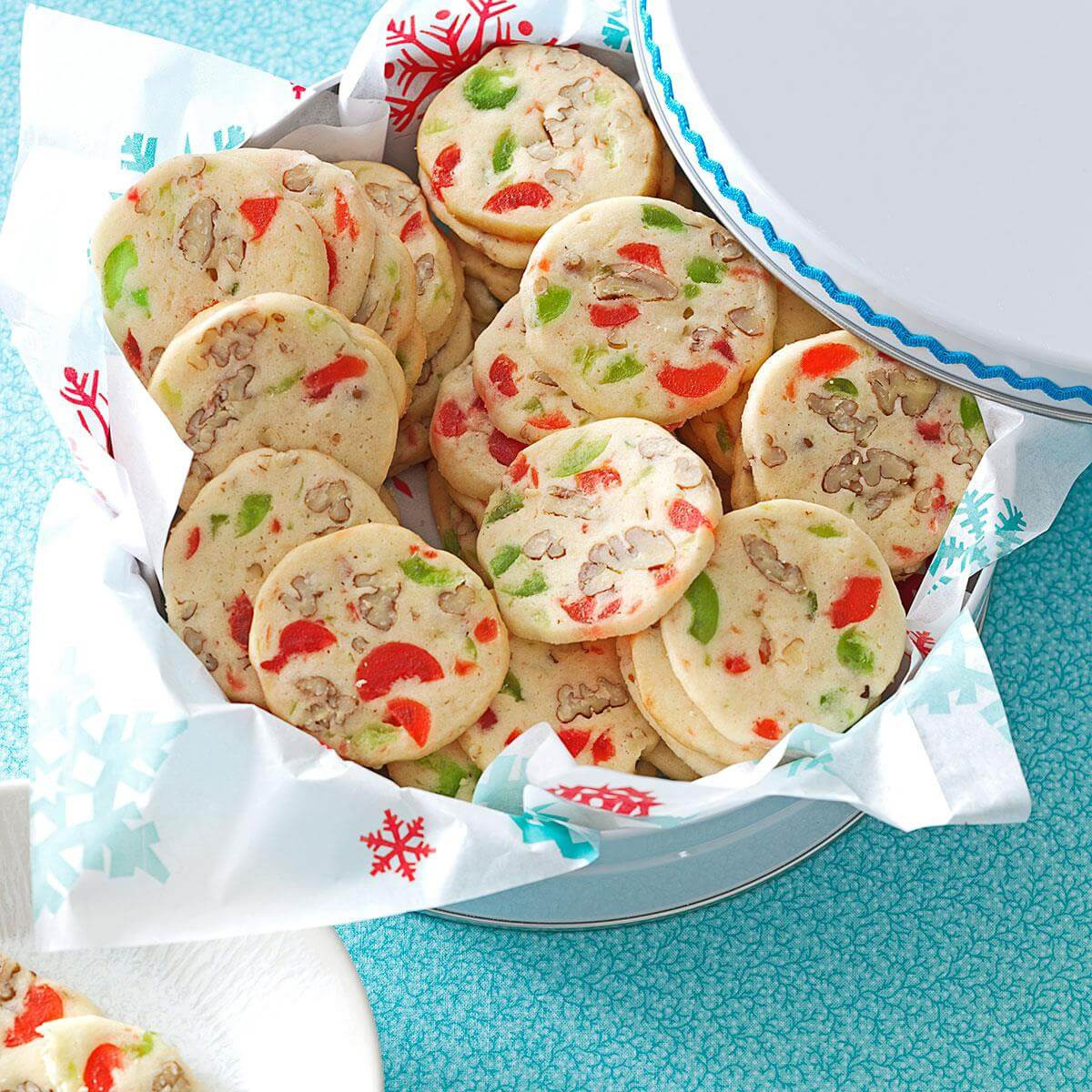 America'S Test Kitchen Christmas Cookies  Cherry Christmas Slices Recipe