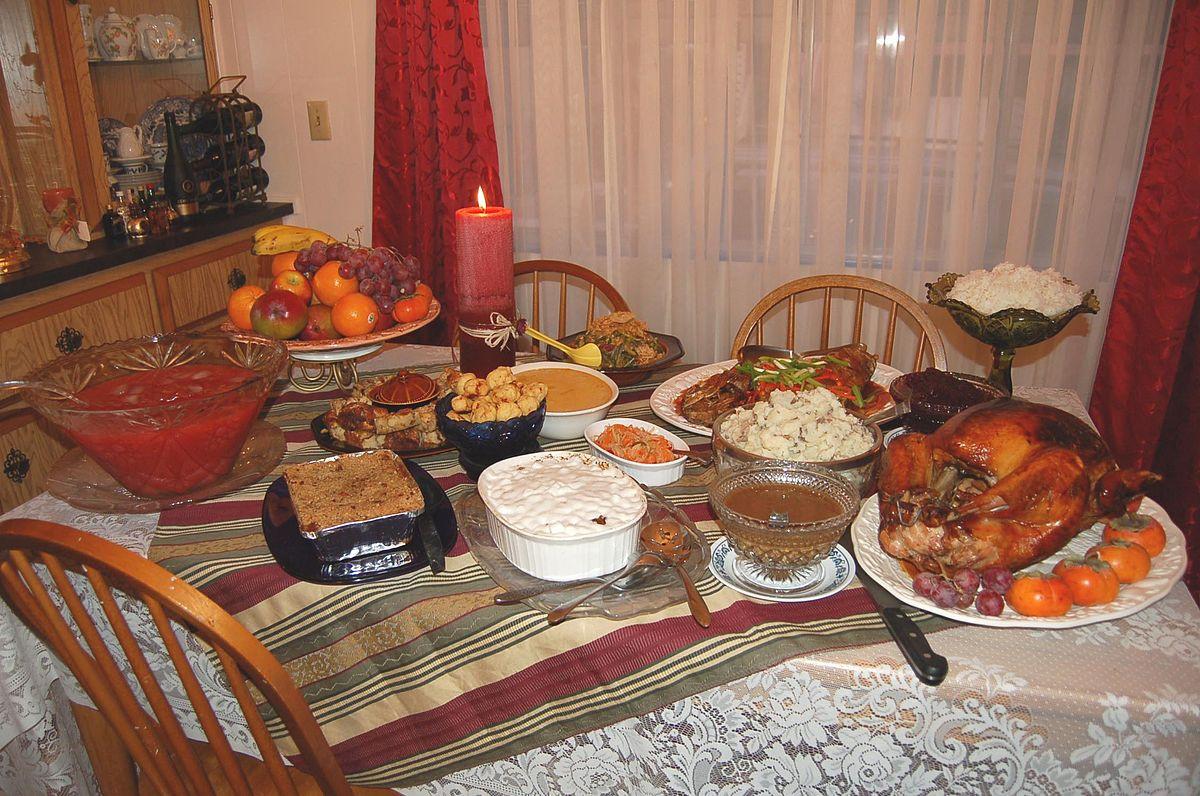 American Christmas Dinner  Thanksgiving dinner
