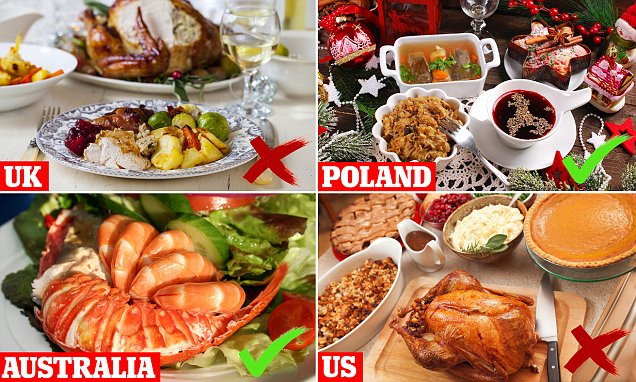 American Christmas Dinner  The healthiest Christmas dinners around the world revealed