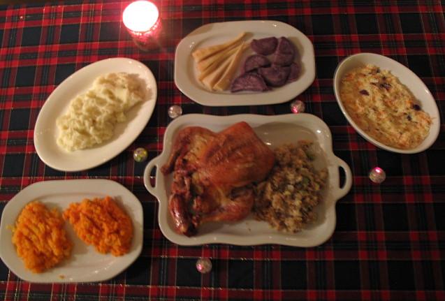 American Christmas Dinner  somerville kitchen December 2010