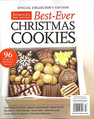 Americas Test Kitchen Christmas Cookies  AMERICA S TEST KITCHEN BEST EVER CHRISTMAS COOKIES SPECIAL