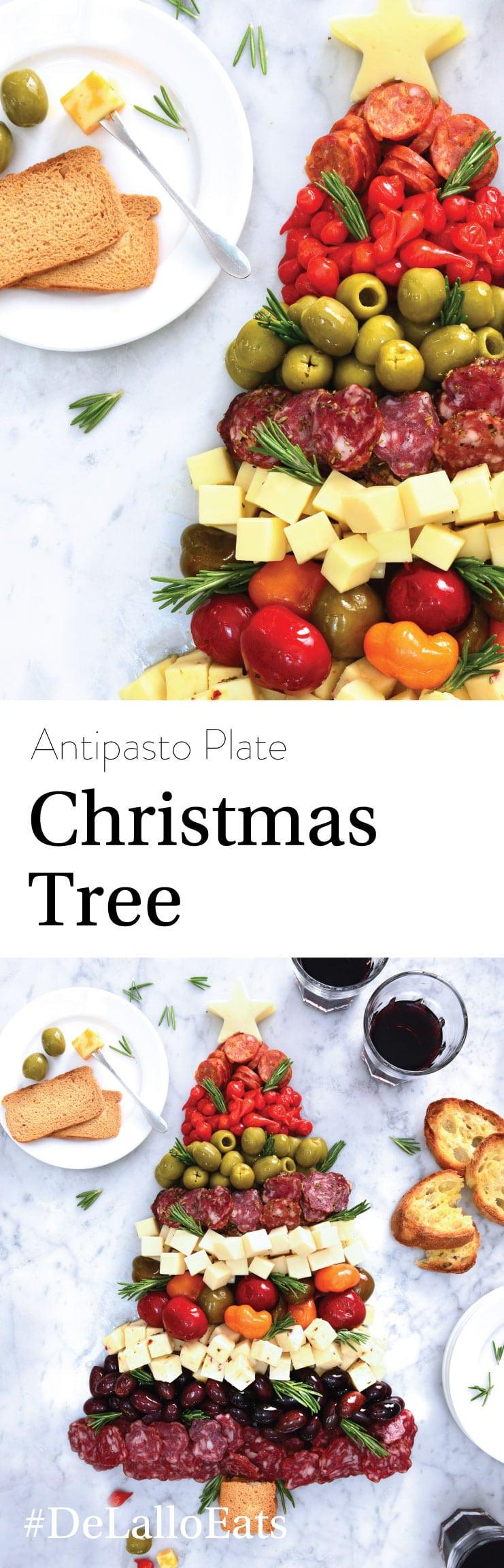 Antipasto Christmas Tree  Christmas Tree Antipasto Plate DeLallo