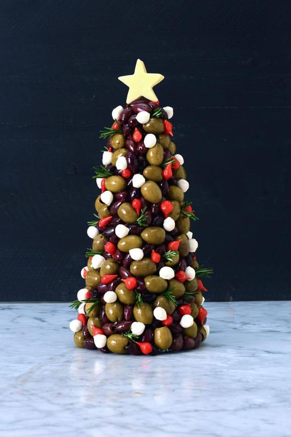 Antipasto Christmas Tree  Olive and Antipasto Christmas Tree DeLallo