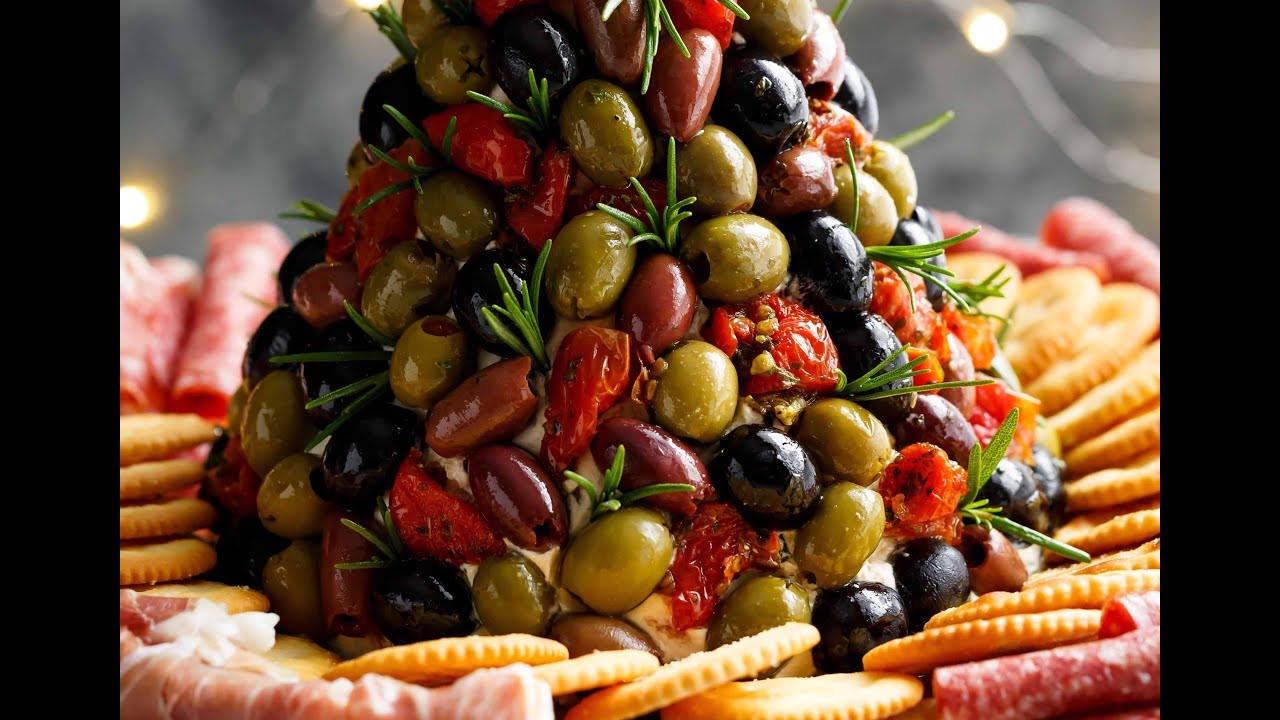 Antipasto Christmas Tree  Antipasto Cheese Ball Christmas Tree