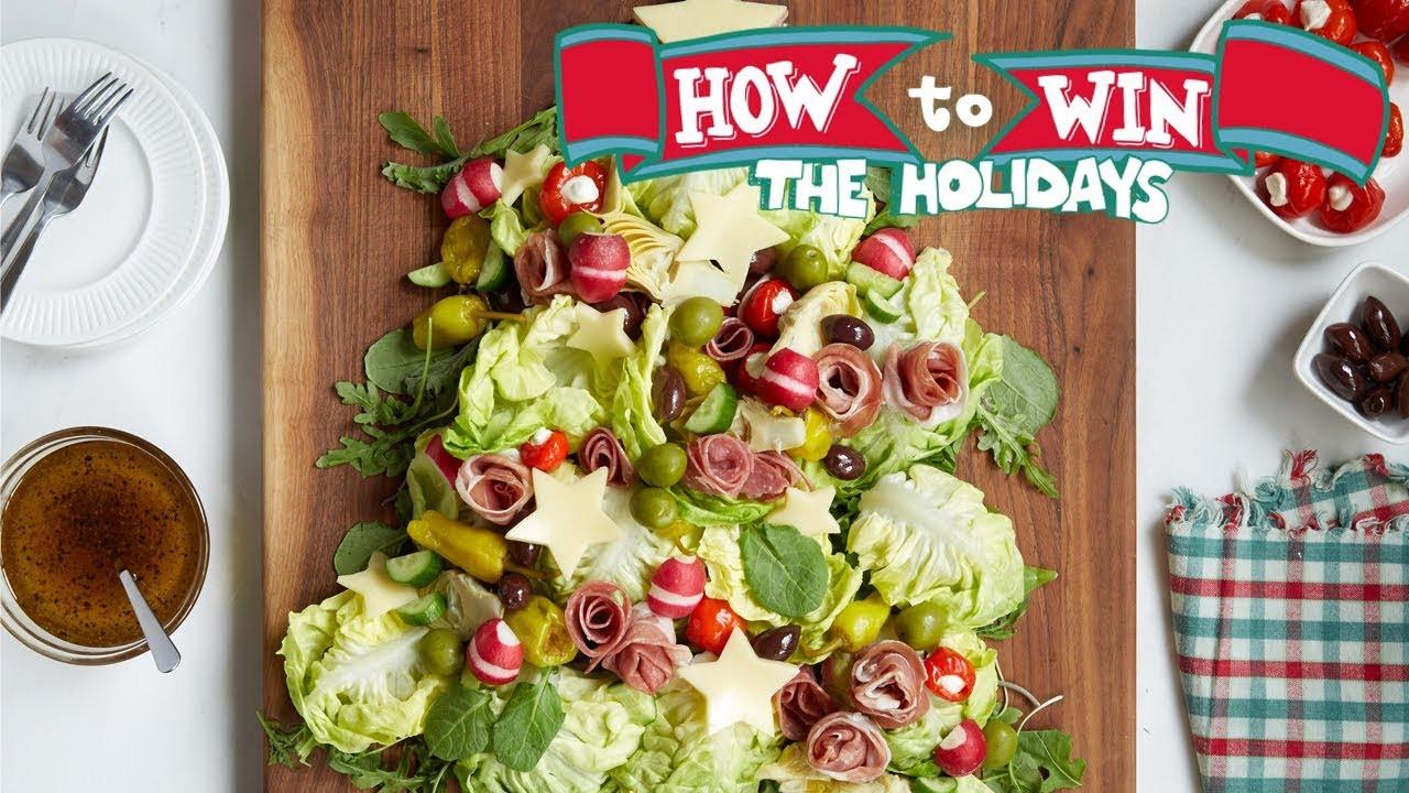 Antipasto Christmas Tree  Christmas Tree Antipasto Salad