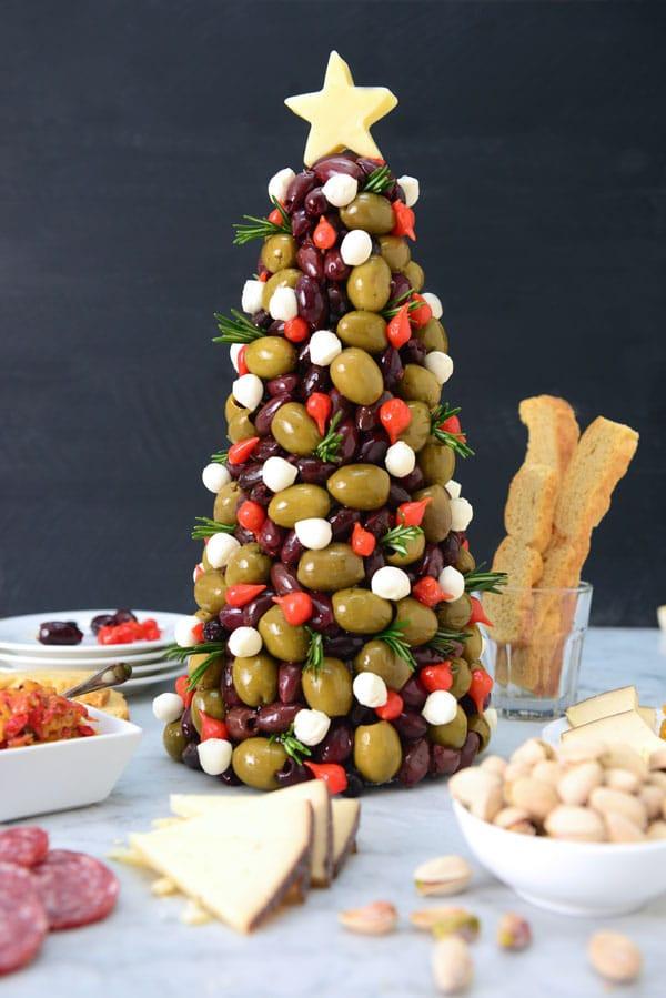 Antipasto Christmas Tree  Festive Entertaining with Olives & Antipasti DeLallo
