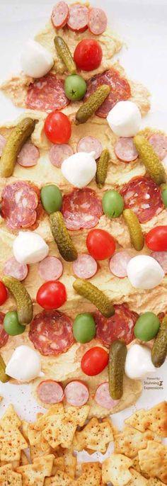 Antipasto Christmas Tree  Christmas Tree antipasto salad Christmas