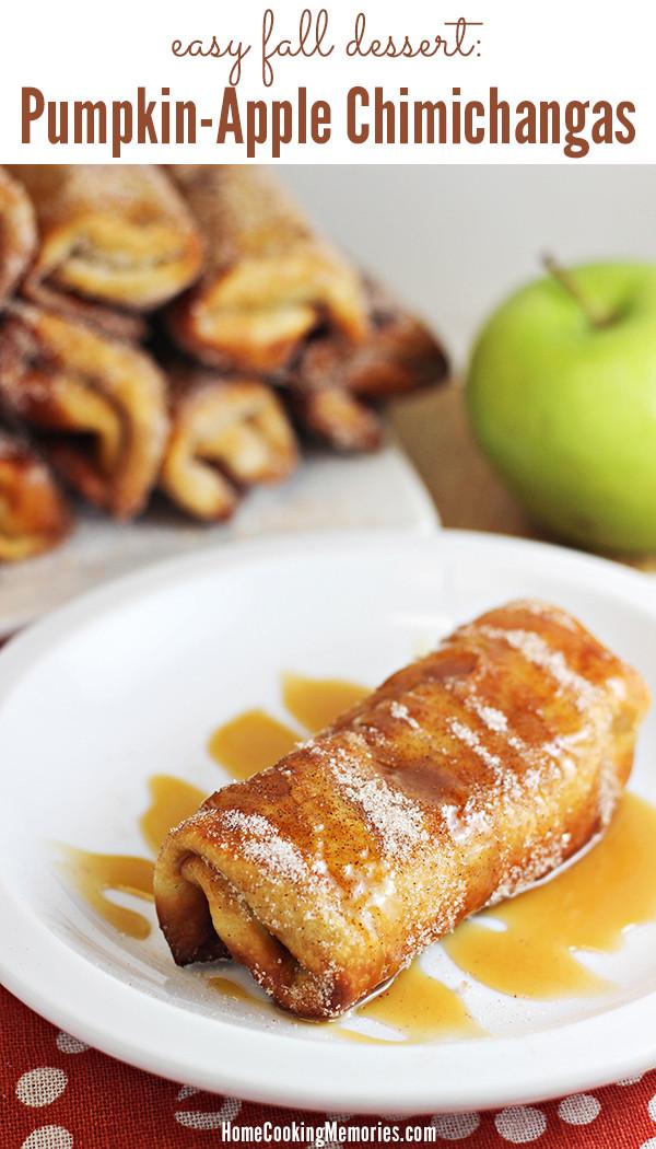 Apple Recipes For Fall  Easy Fall Dessert Pumpkin Apple Chimichanga Recipe Home