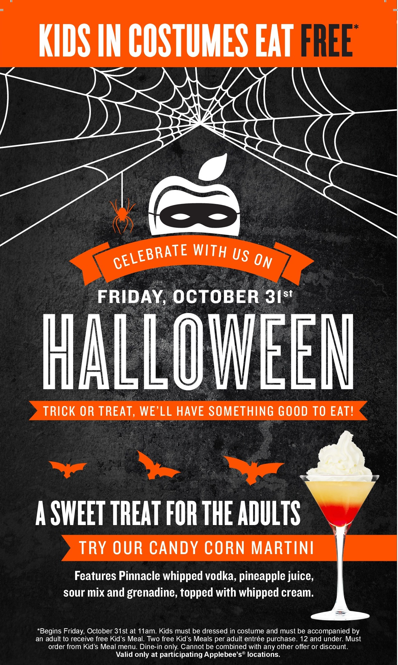 Applebees Halloween Drinks  Applebee's Gets in the Halloween Spirit with Spooktacular