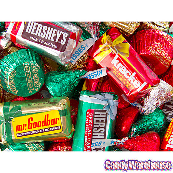 Assorted Christmas Candy  Hershey s Christmas Candy Assortment 38 Ounce Bag