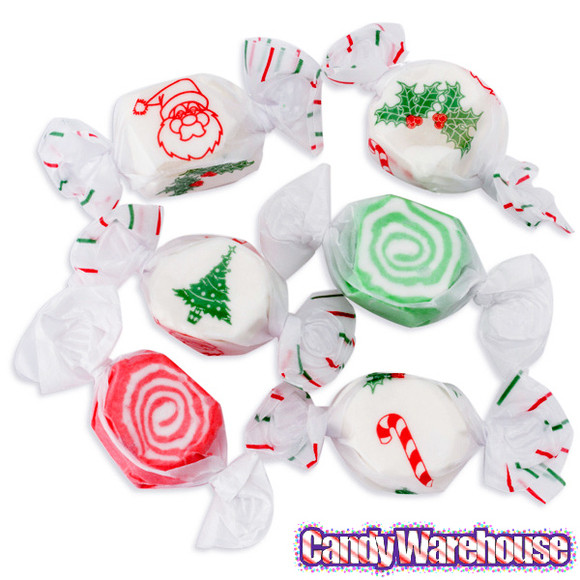 Assorted Christmas Candy  Christmas Taffy Candy Assortment 3LB Bag