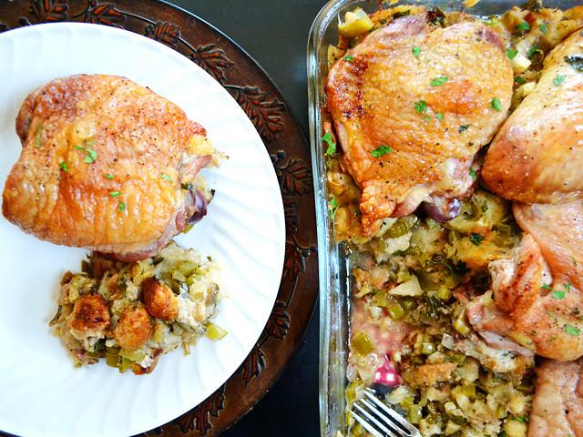 Bake Thanksgiving Turkey  turkey and stuffing casserole Bud Bytes