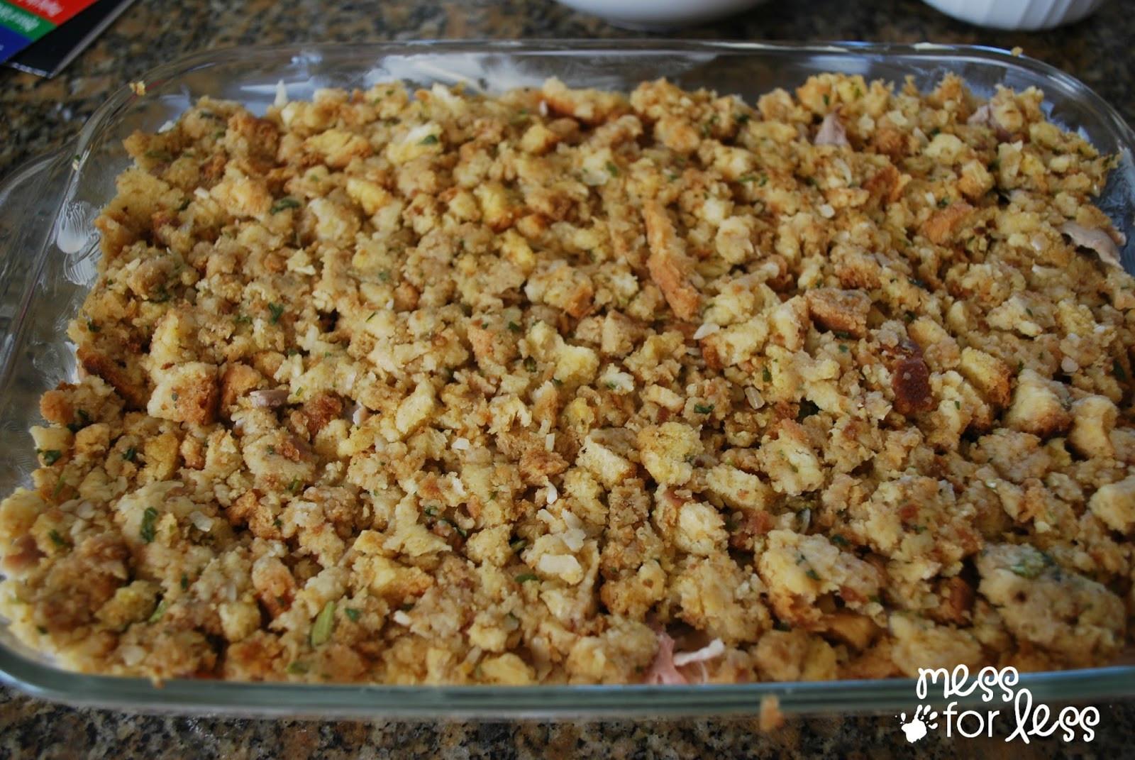 Bake Thanksgiving Turkey  Thanksgiving Dinner Casserole Mess for Less