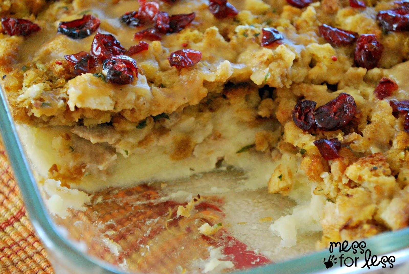 Bake Thanksgiving Turkey  Thanksgiving Dinner Casserole