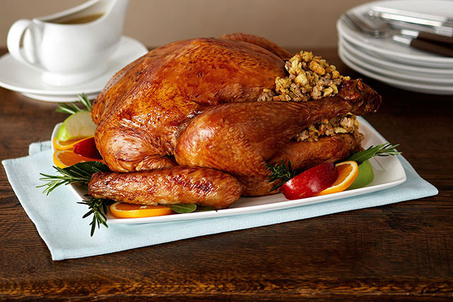 Bake Turkey Recipe For Thanksgiving  Roast Turkey with Sausage Stuffing Kraft Recipes