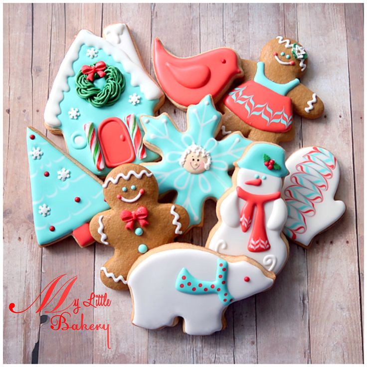 """Bakery Christmas Cookies  17 Best images about """"My little bakery"""" cookies on"""