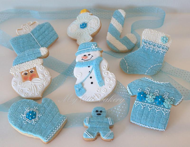 Bakery Christmas Cookies  My little bakery 🌹 Blue Christmas cookie set
