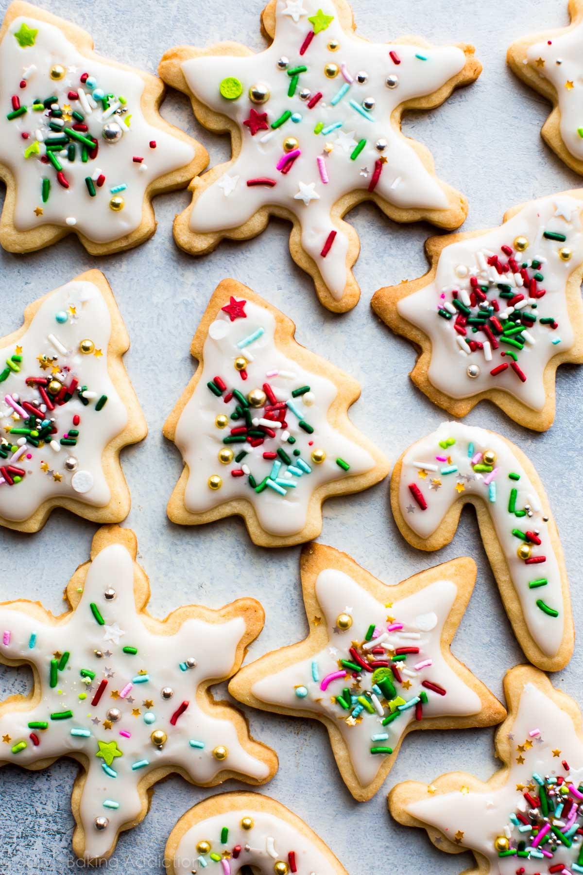 Baking Christmas Cookies  Christmas Sugar Cookies with Easy Icing