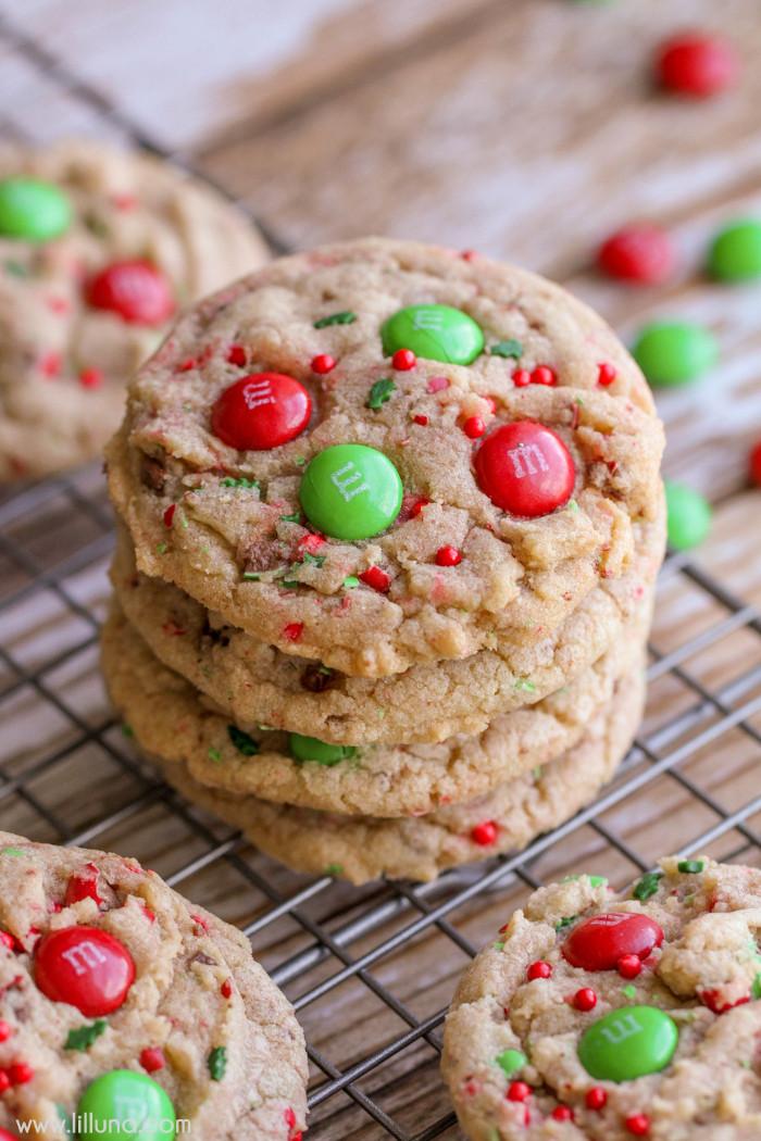 Baking Christmas Cookies  Chocolate Caramel Pecan Turtles Lil Luna