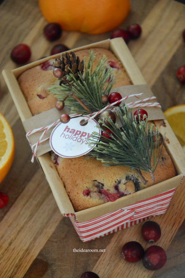 Baking Christmas Gifts  Orange Cranberry Bread The Idea Room
