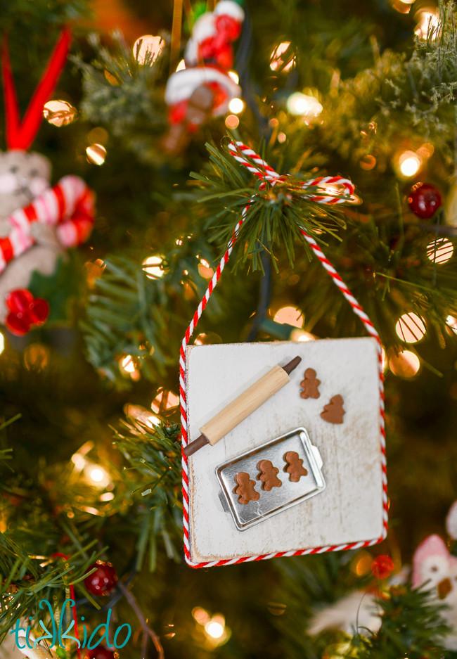 Baking Christmas Ornaments  Miniature Gingerbread Baking Christmas Ornament Tutorial