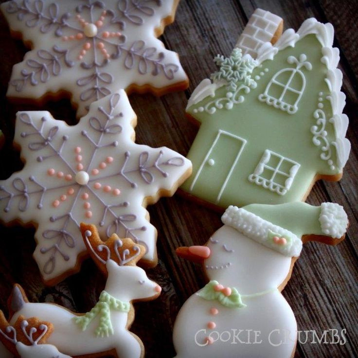 Beautiful Christmas Cookies  235 best Homes Moving Wel e Home Decorated Cookies And