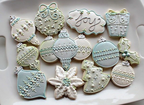 Beautiful Christmas Cookies  Make Your Cookies SHINE – The Sweet Adventures of Sugar
