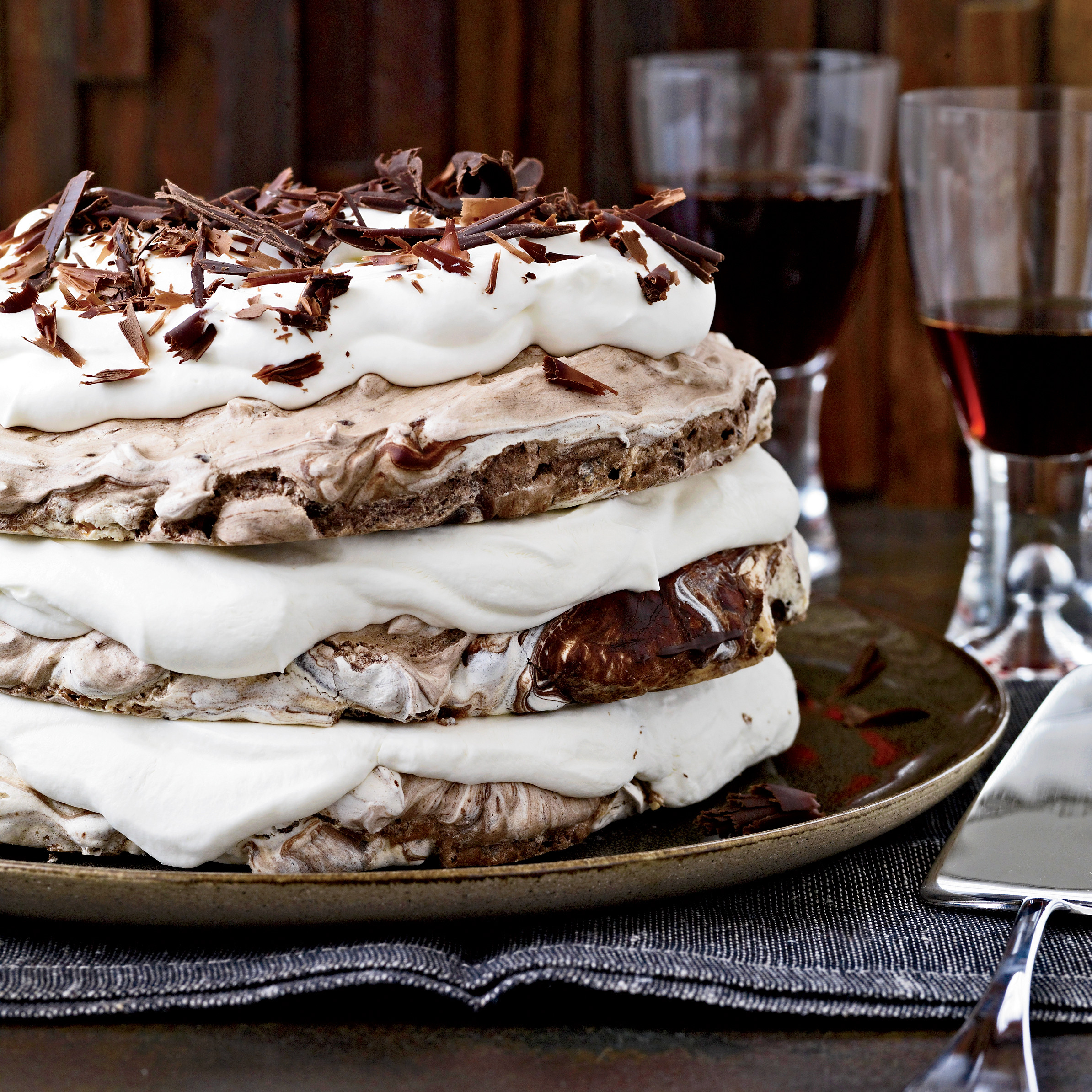 Beautiful Christmas Desserts  Hazelnut and Chocolate Meringue Cake Recipe Daniel Jasso