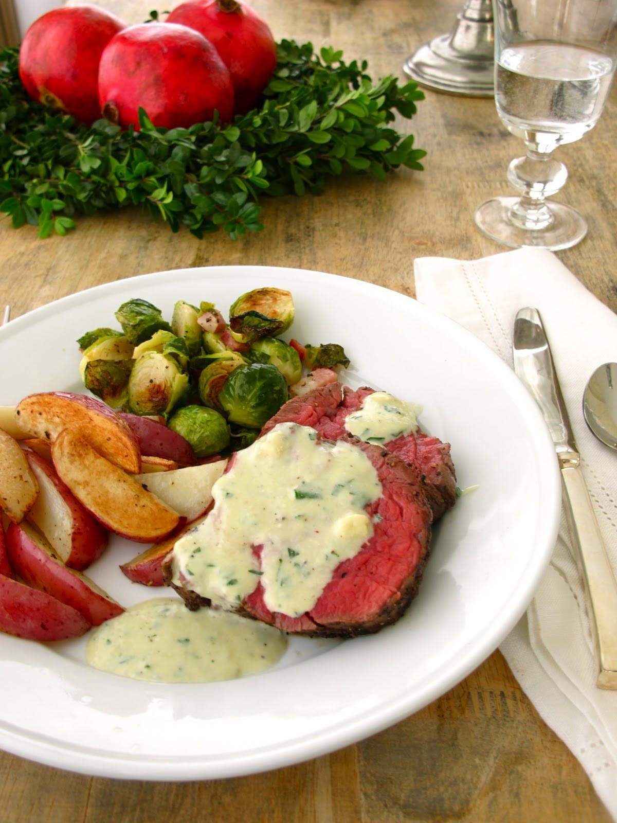 Beef Tenderloin Christmas Dinner  Jenny Steffens Hobick Blue Cheese Sauce for Beef