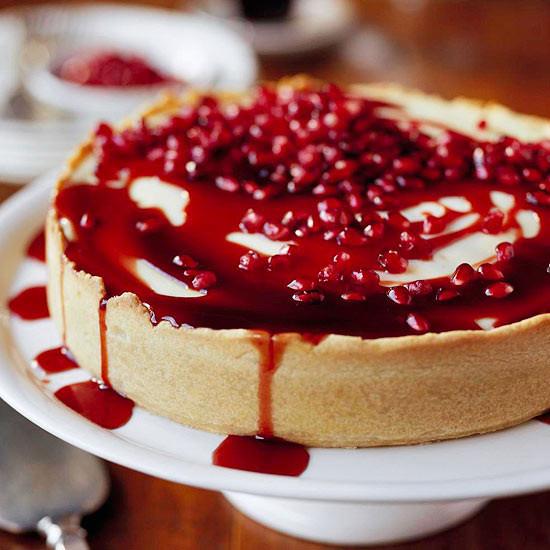 Best Christmas Cake Recipe Ever  Pomegranate Cheesecake
