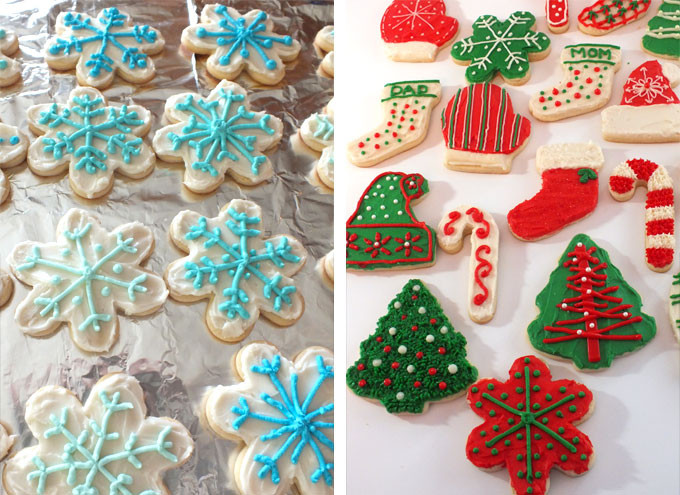 Best Christmas Cookie Icing  The Best Sugar Cookie Recipe Two Sisters