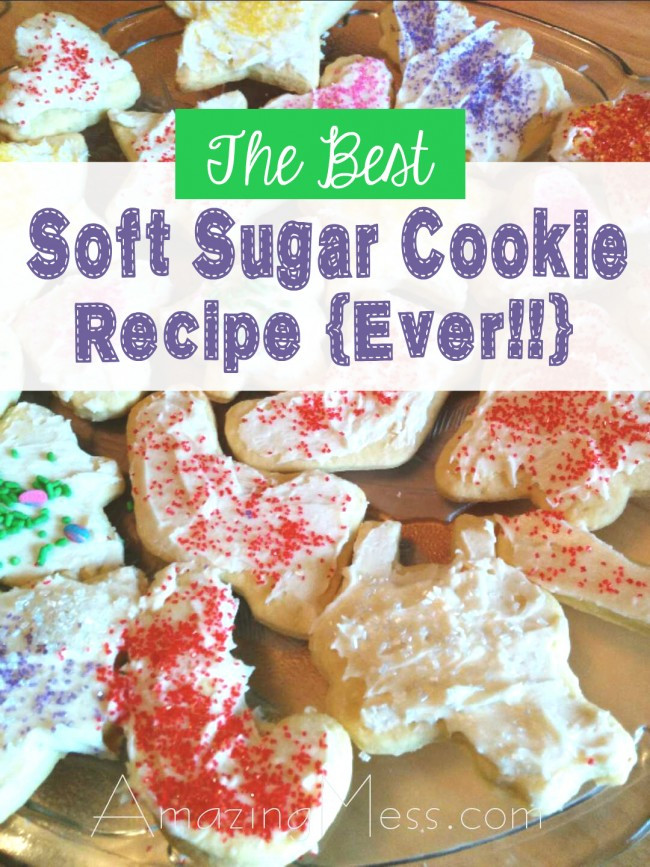 Best Christmas Cookies Ever  The Best Soft Sugar Cookie Recipe Ever