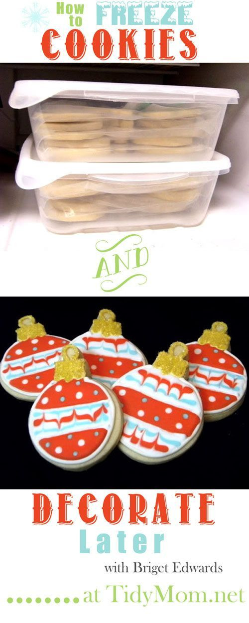 Best Christmas Cookies To Freeze  How to Freeze Cookies Best of Pinterest