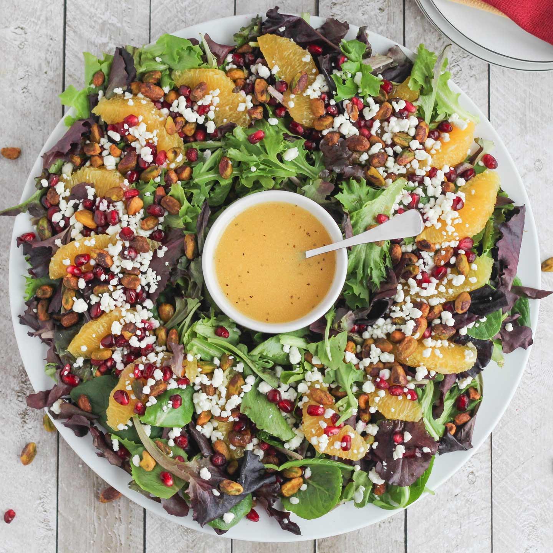 Best Christmas Salads  Christmas Salad with Citrus Champagne Vinaigrette Two