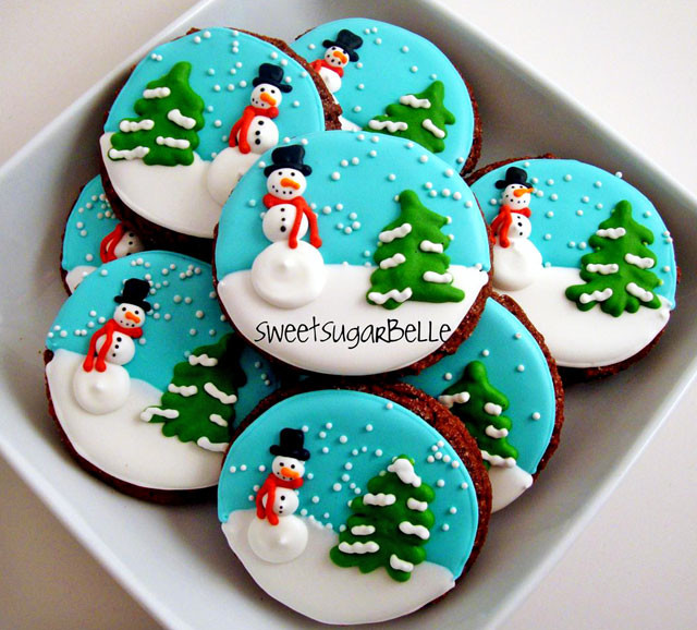Best Decorated Christmas Cookies  Christmas Royal Icing Transfers