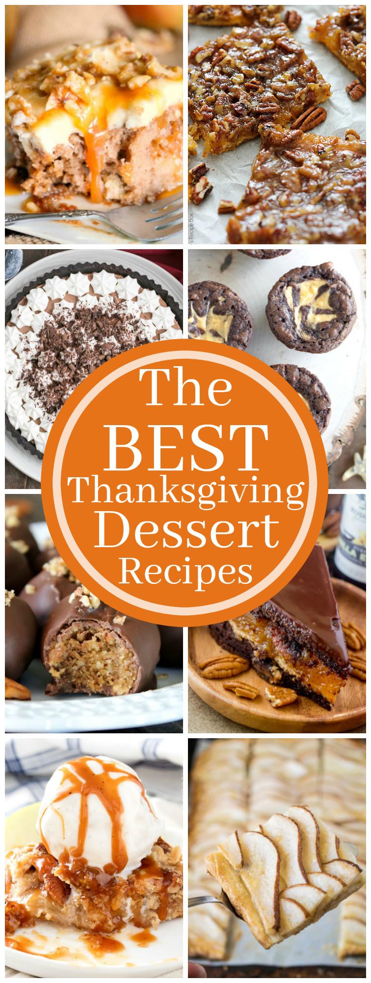 Best Thanksgiving Dessert Recipes  The Best Thanksgiving Dessert Recipes The Chunky Chef