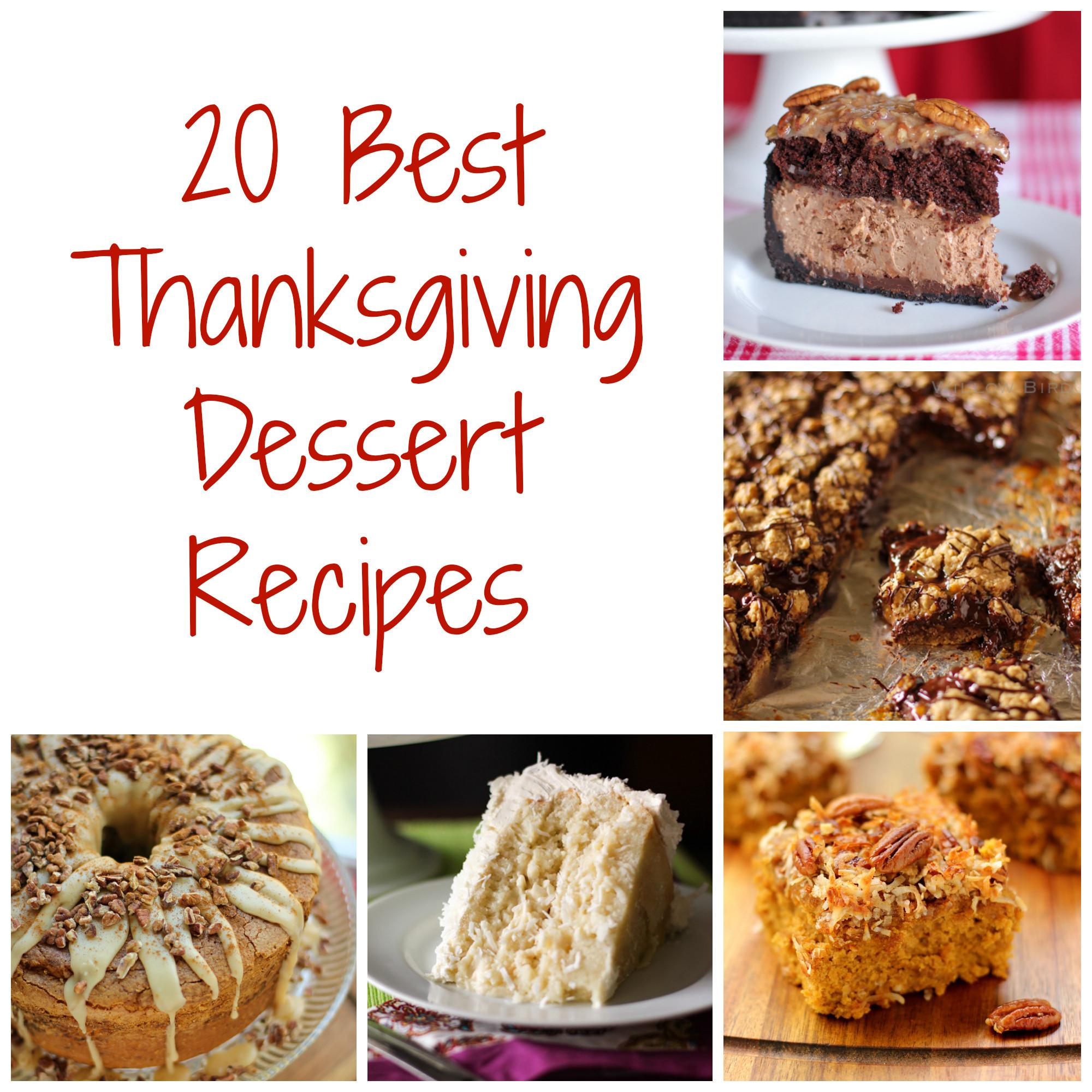 Best Thanksgiving Dessert Recipes  Thanksgiving Dessert Recipes Willow Bird Baking